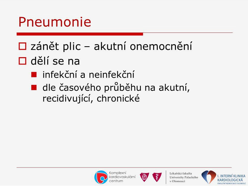 Pneumonie zánět plic – akutní onemocnění dělí se na