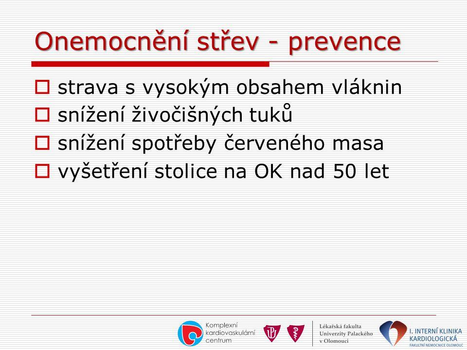 Onemocnění střev - prevence