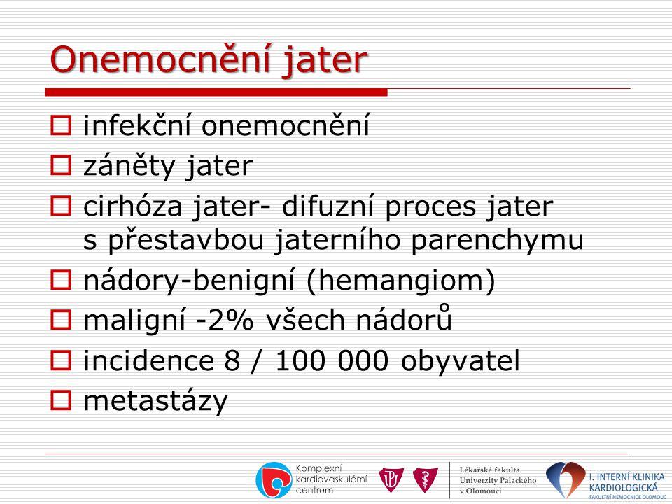 Onemocnění jater infekční onemocnění záněty jater