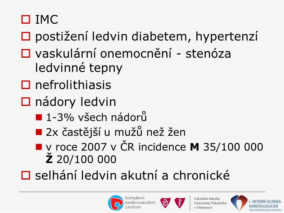 postižení ledvin diabetem, hypertenzí