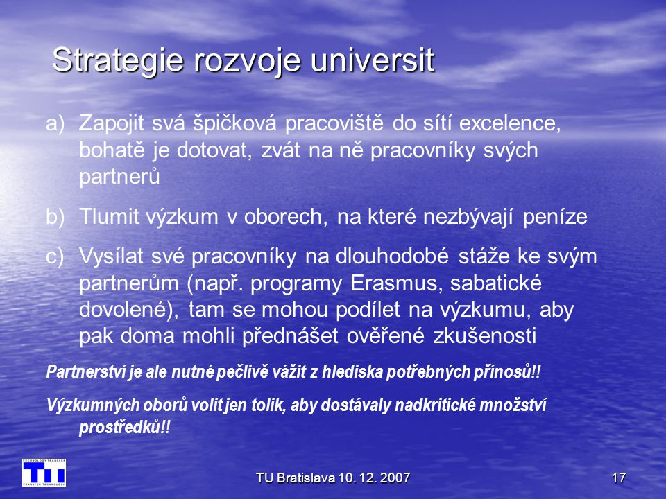 Strategie rozvoje universit