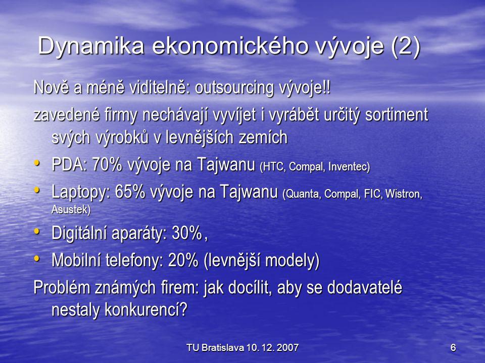 Dynamika ekonomického vývoje (2)