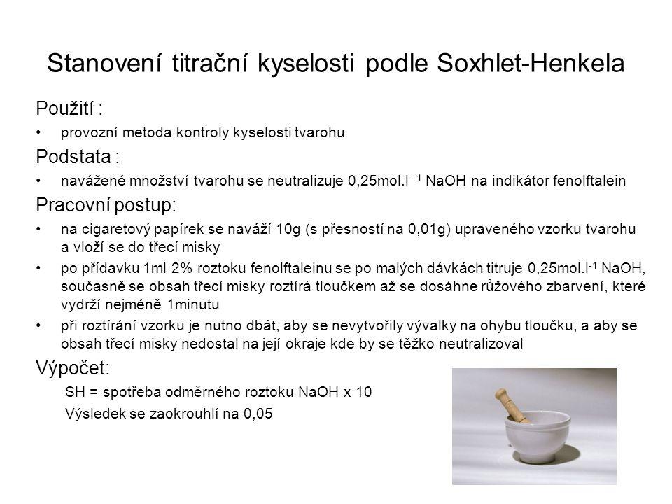 Stanovení titrační kyselosti podle Soxhlet-Henkela