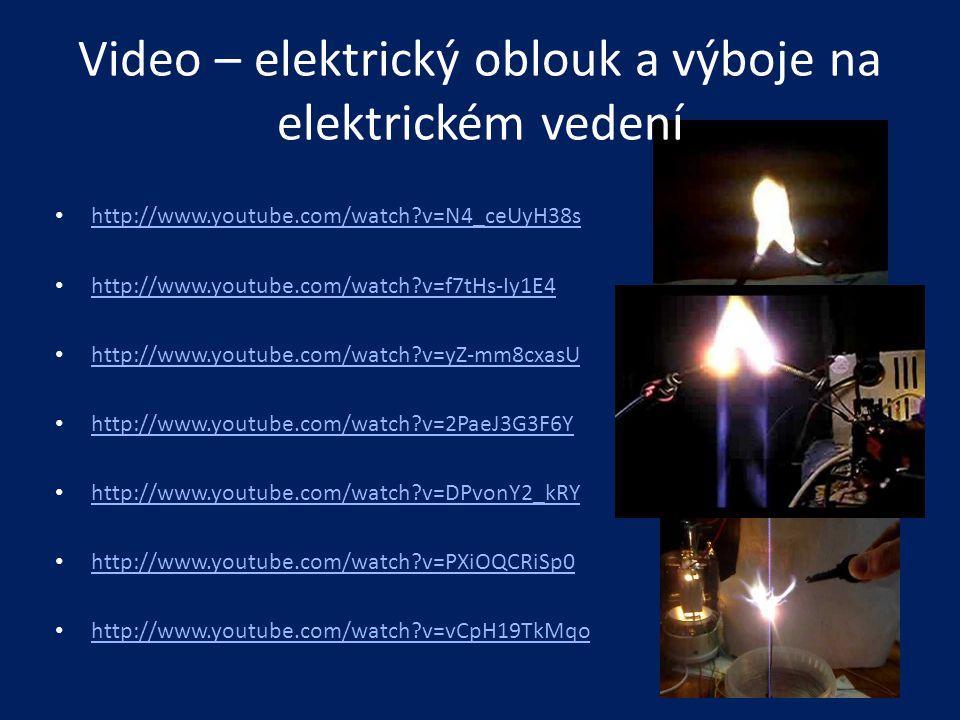 Video – elektrický oblouk a výboje na elektrickém vedení