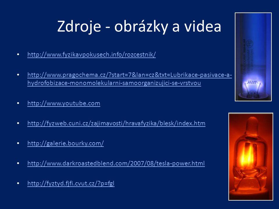 Zdroje - obrázky a videa