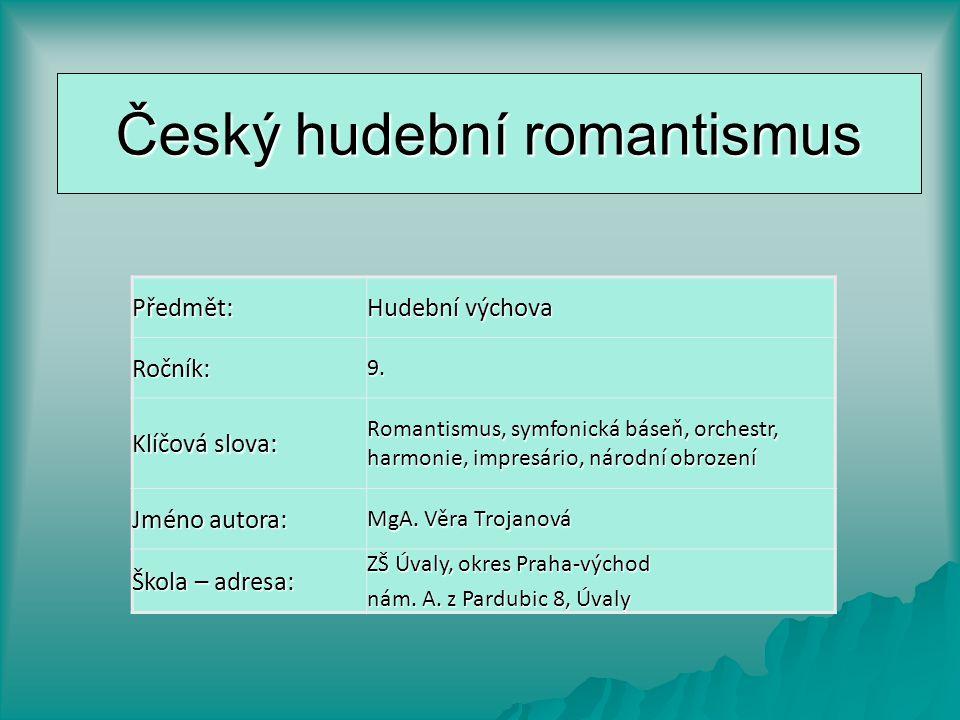 Český hudební romantismus