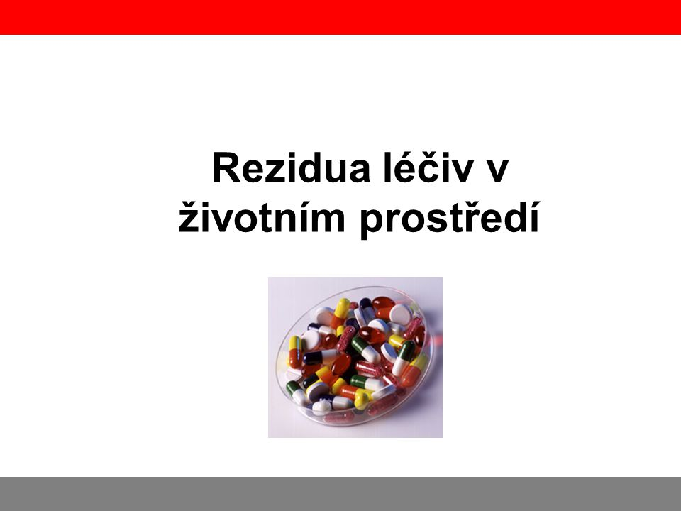 Rezidua léčiv v životním prostředí