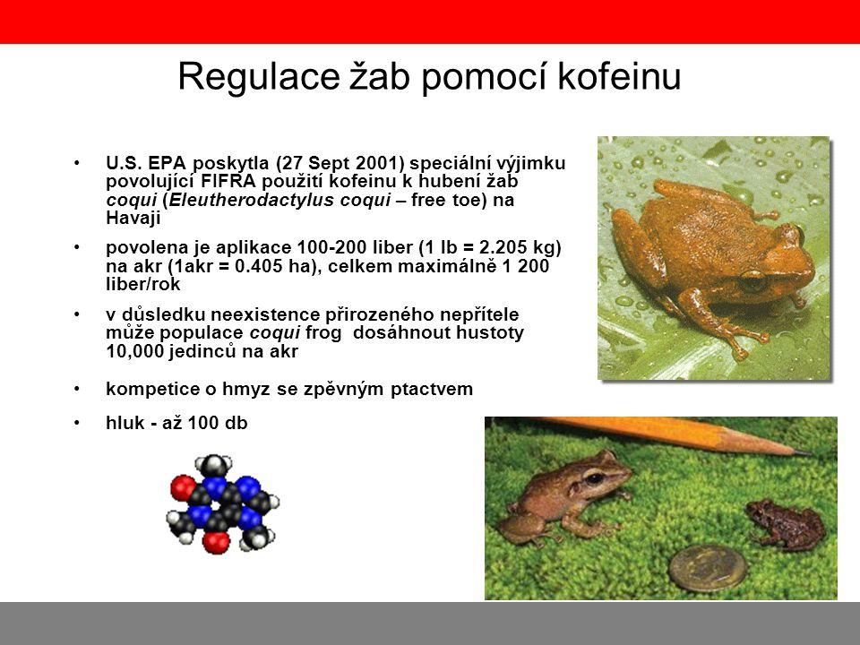 Regulace žab pomocí kofeinu