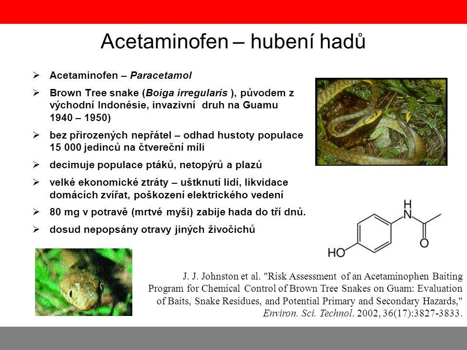 Acetaminofen – hubení hadů