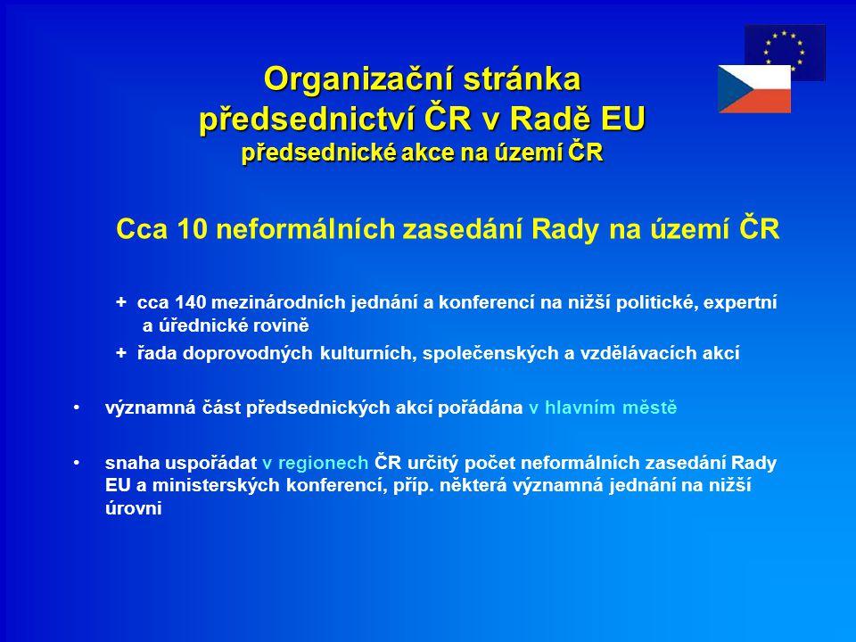 Organizační stránka předsednictví ČR v Radě EU předsednické akce na území ČR