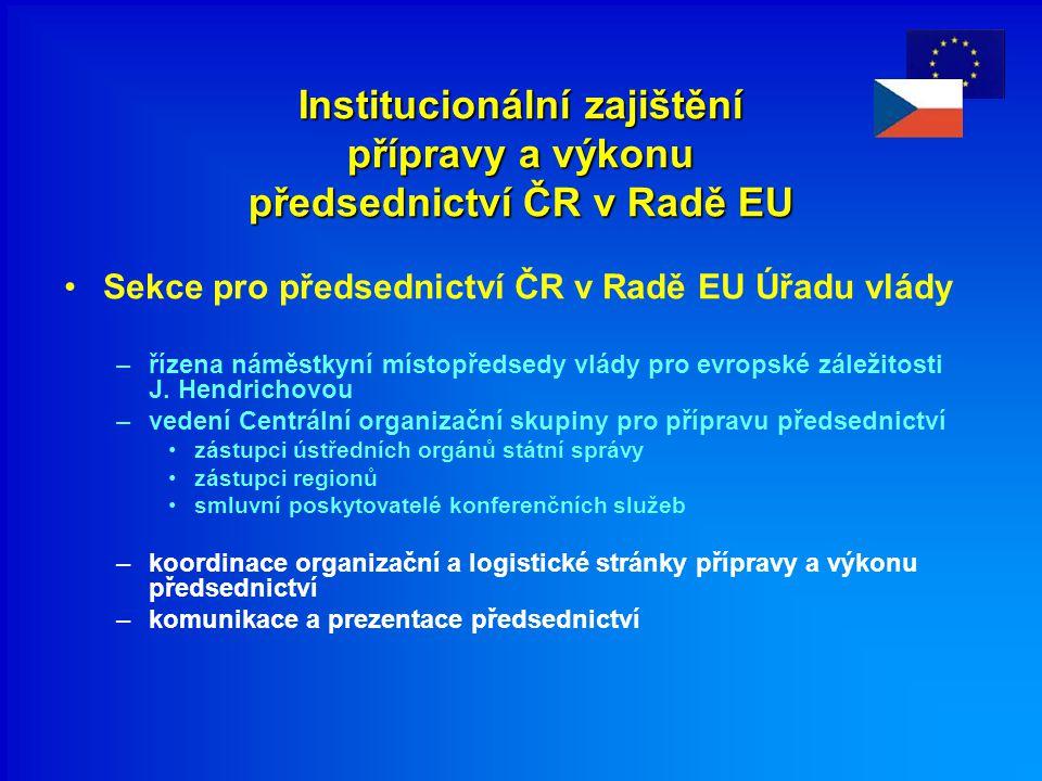 Institucionální zajištění přípravy a výkonu předsednictví ČR v Radě EU
