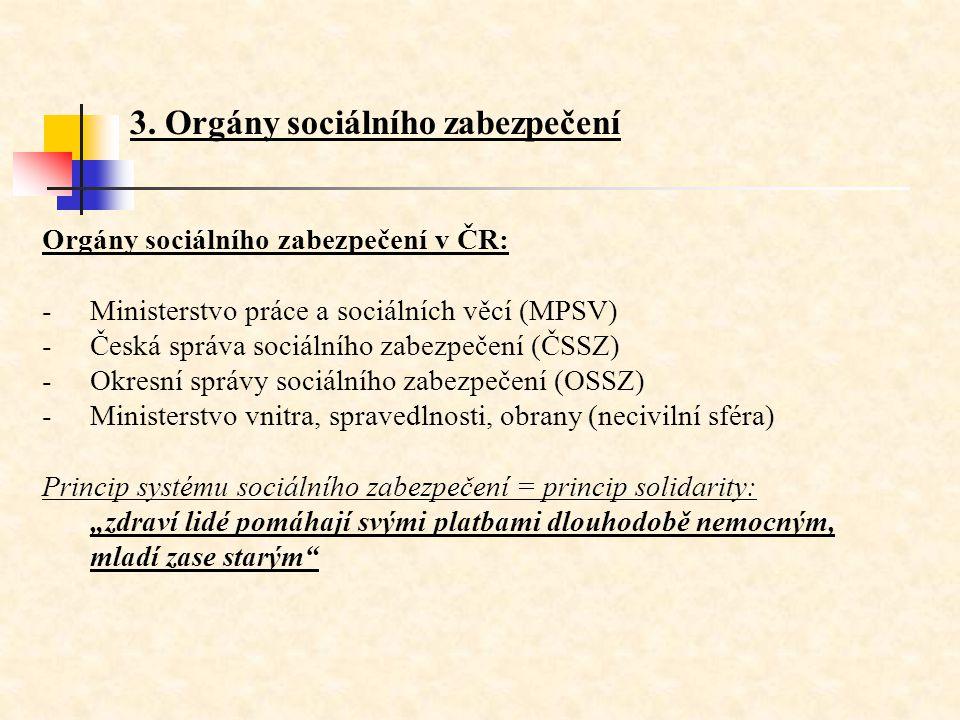 3. Orgány sociálního zabezpečení