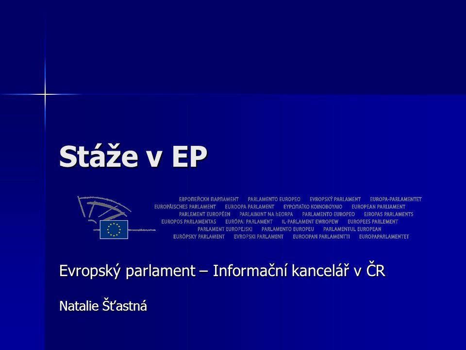 Evropský parlament – Informační kancelář v ČR Natalie Šťastná