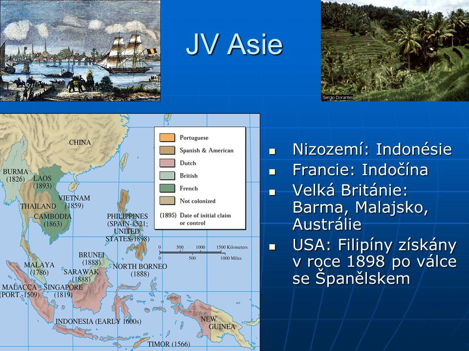 JV Asie Nizozemí: Indonésie Francie: Indočína