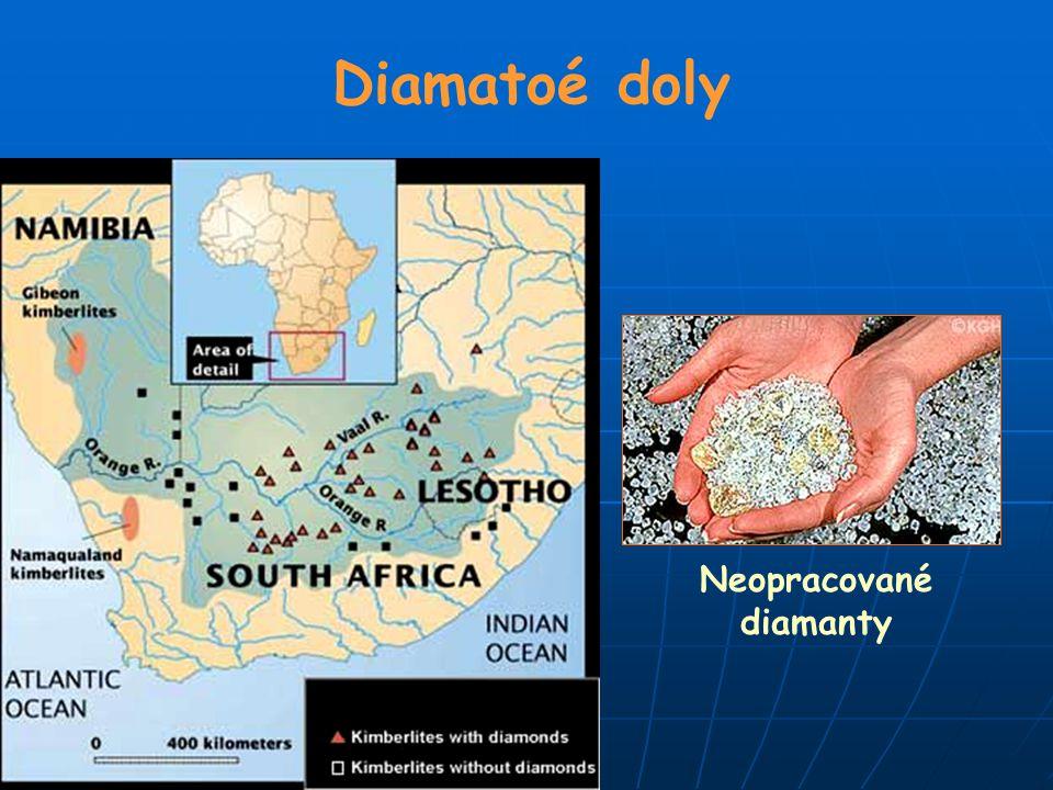 Neopracované diamanty