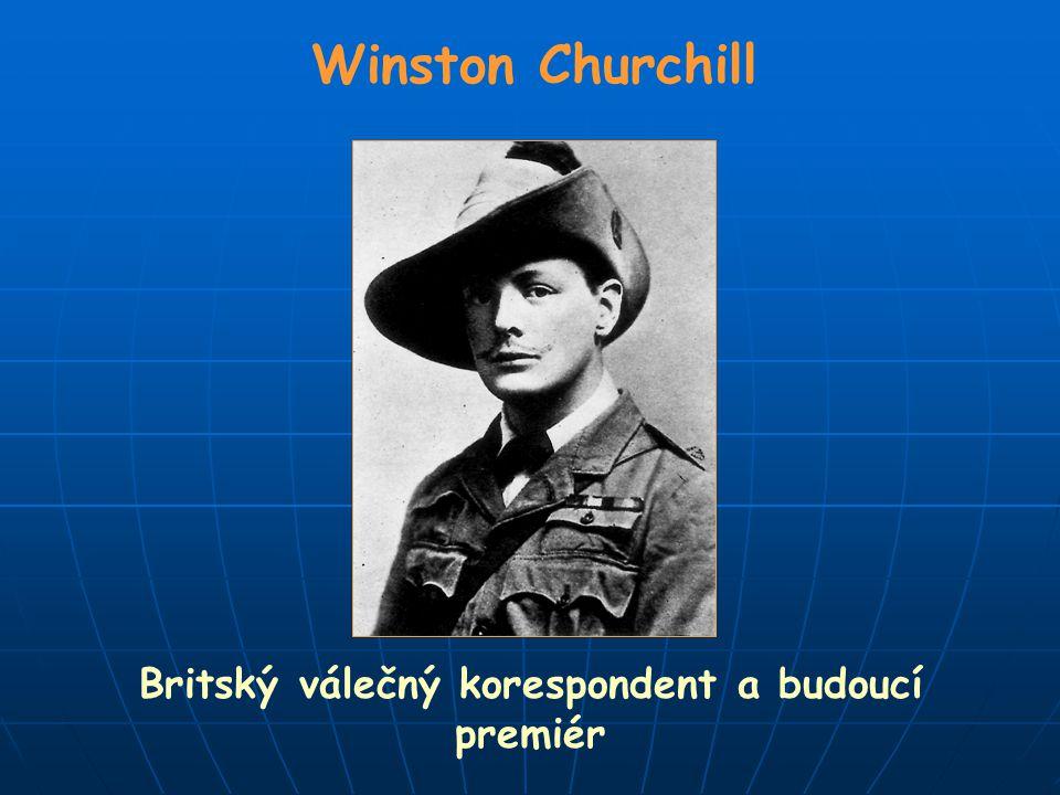 Britský válečný korespondent a budoucí premiér