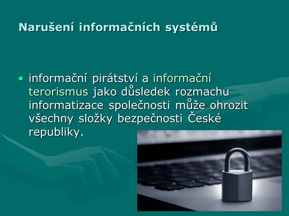 Narušení informačních systémů