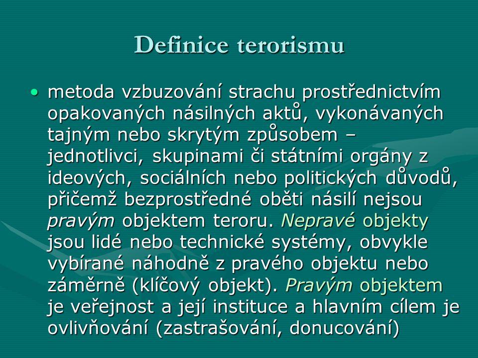 Definice terorismu