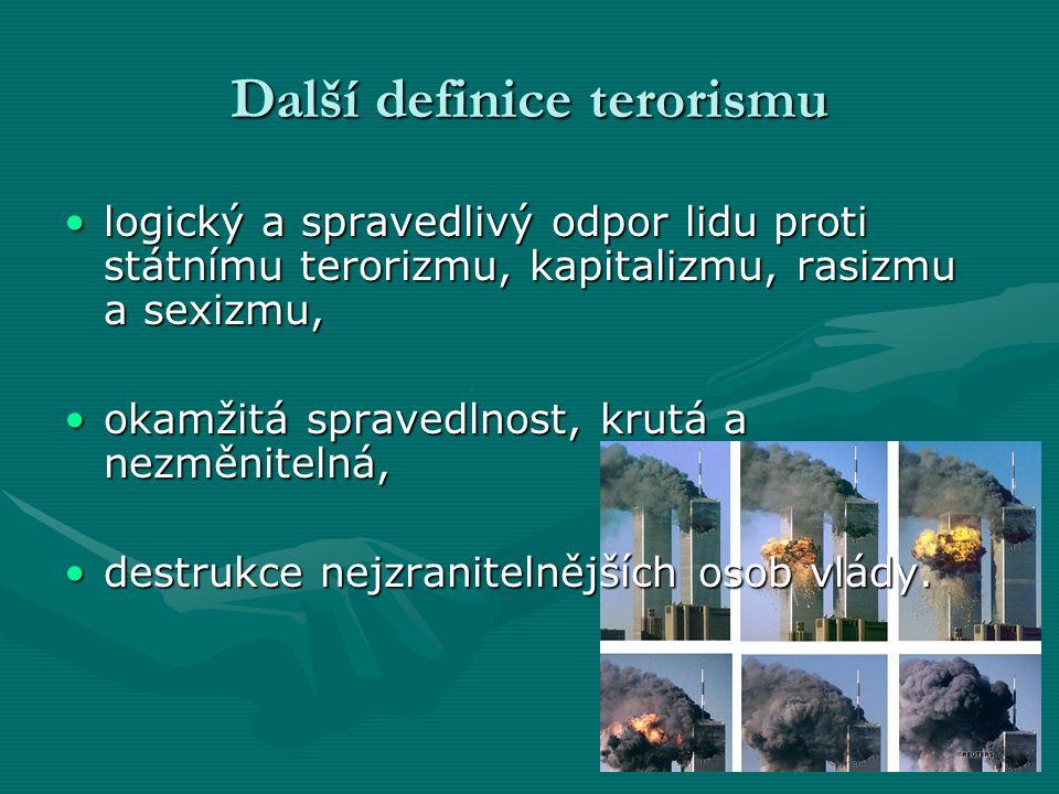 Další definice terorismu