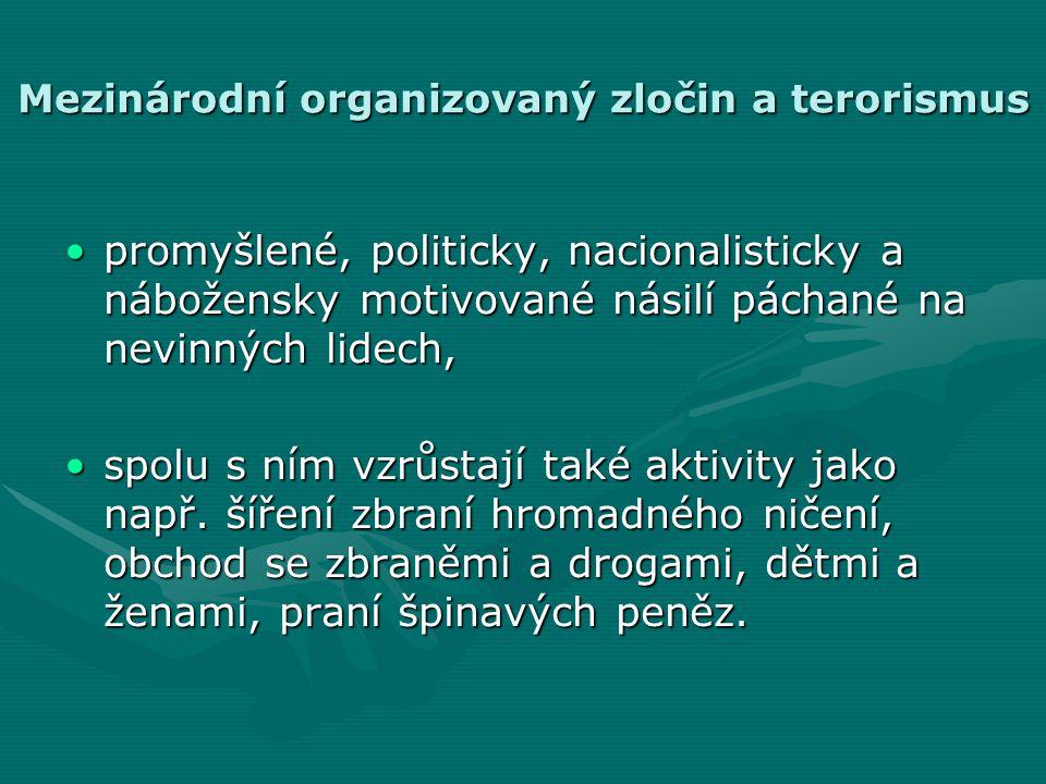 Mezinárodní organizovaný zločin a terorismus