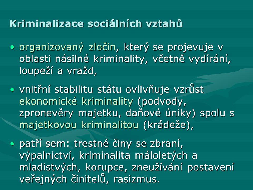 Kriminalizace sociálních vztahů