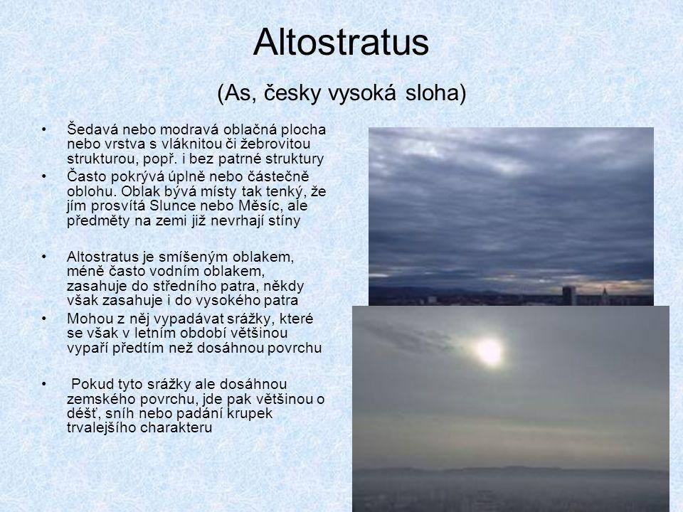 Altostratus (As, česky vysoká sloha)