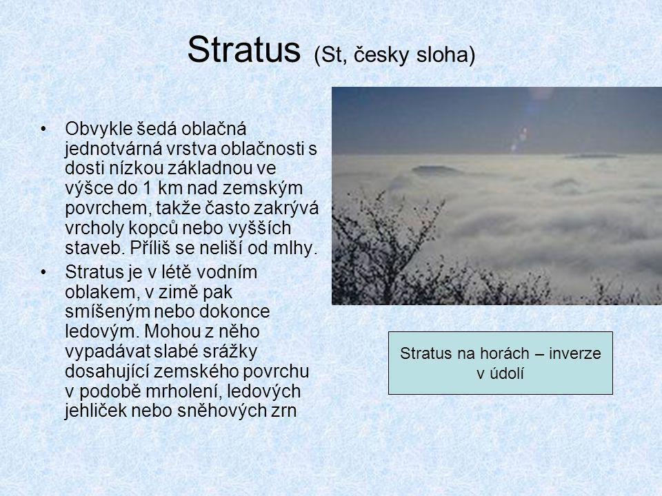 Stratus (St, česky sloha)