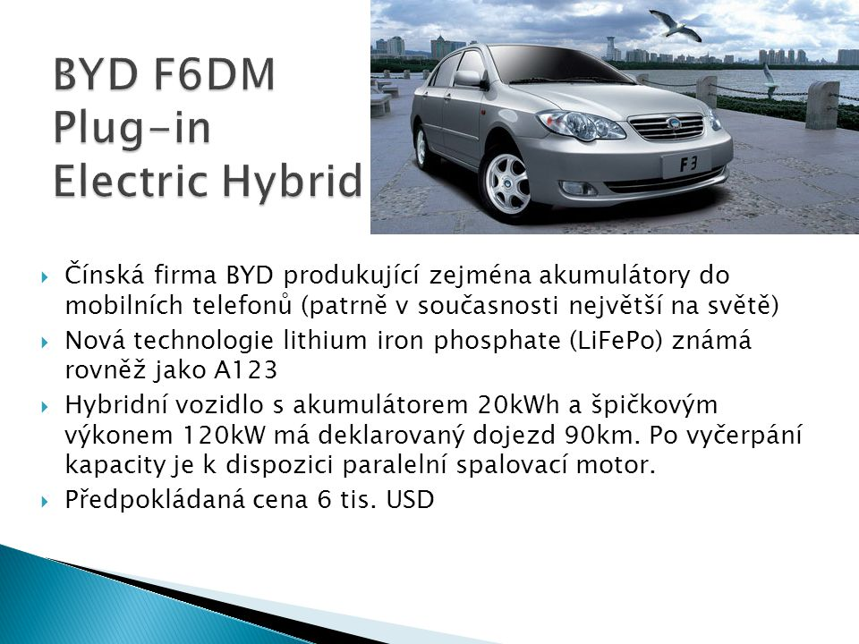 BYD F6DM Plug-in Electric Hybrid