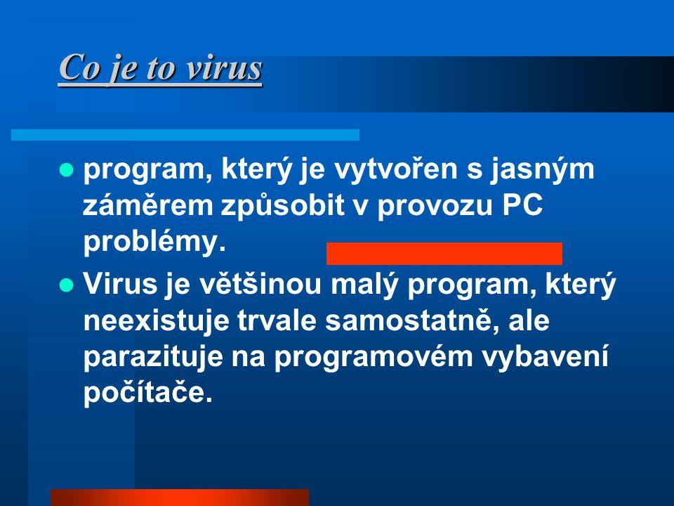 Co je to virus program, který je vytvořen s jasným záměrem způsobit v provozu PC problémy.