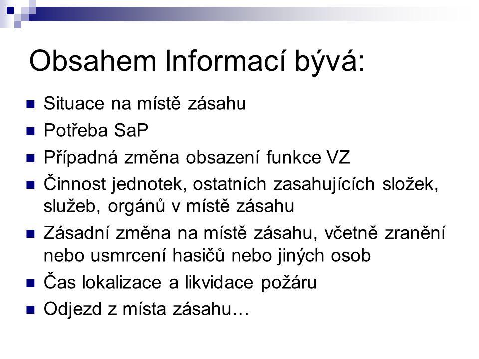 Obsahem Informací bývá: