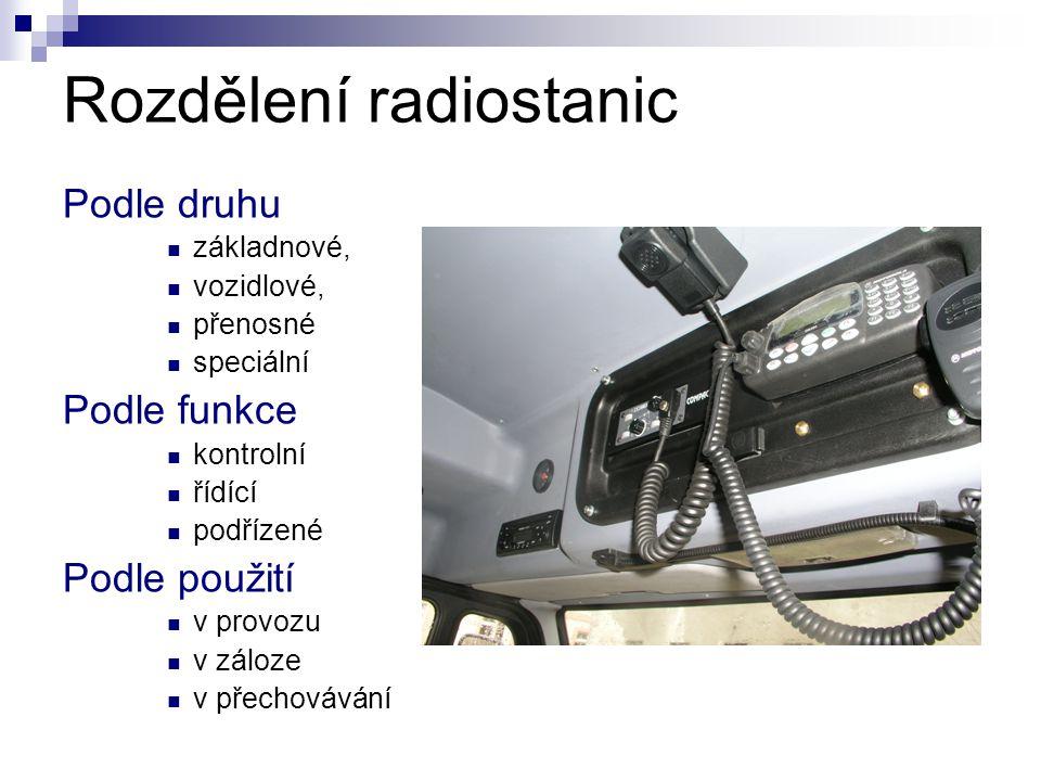 Rozdělení radiostanic