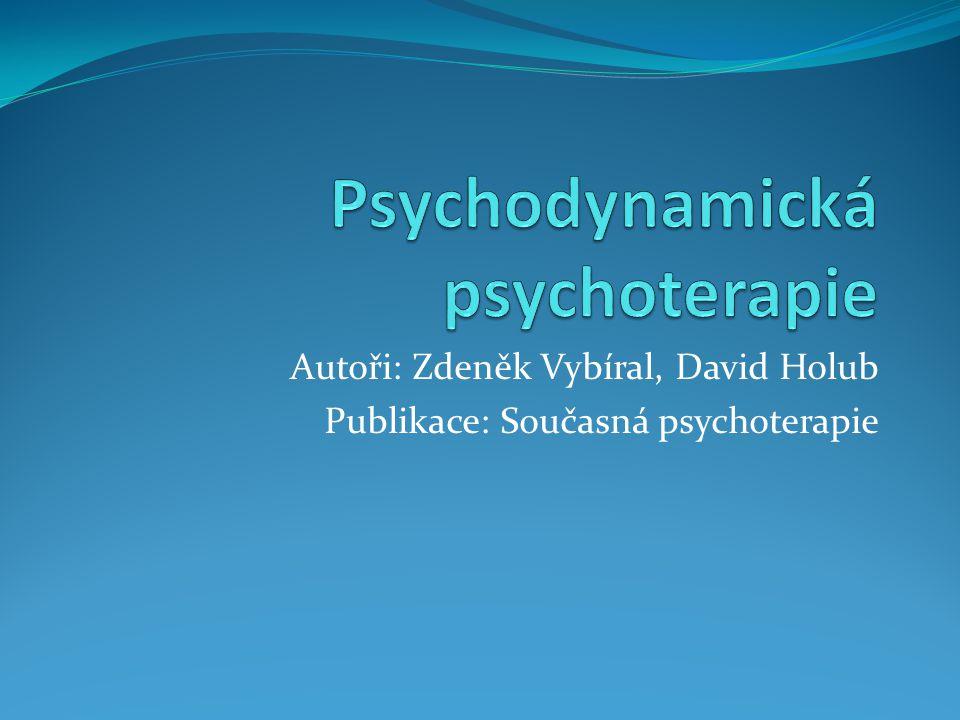 Psychodynamická psychoterapie