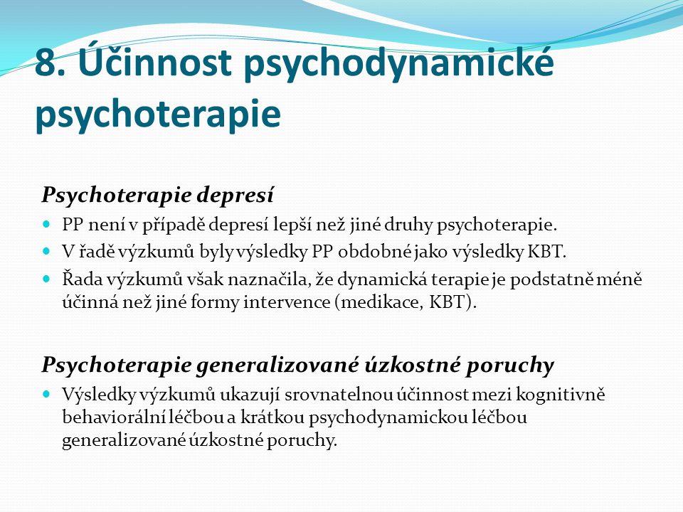 8. Účinnost psychodynamické psychoterapie