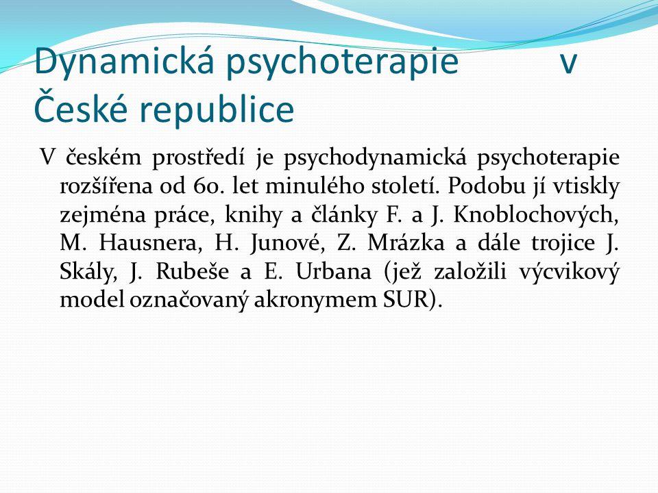 Dynamická psychoterapie v České republice