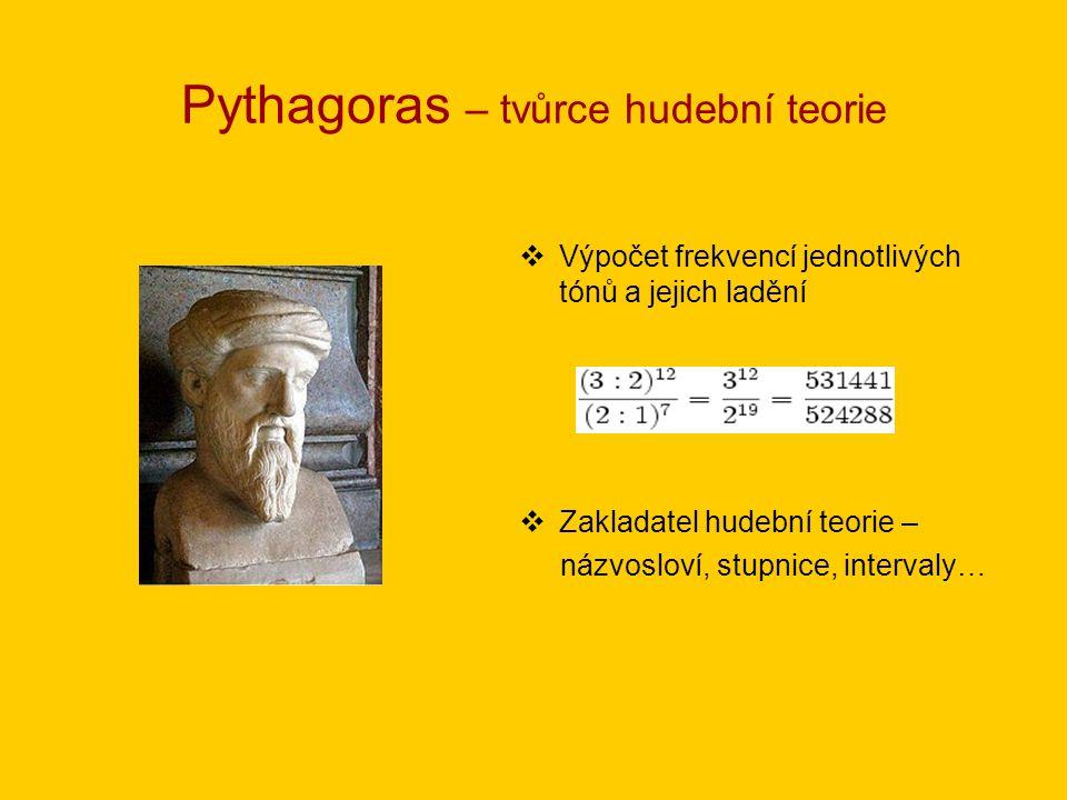 Pythagoras – tvůrce hudební teorie