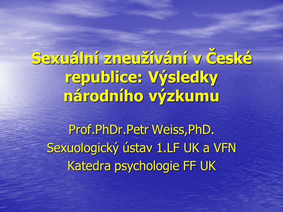 Sexuální zneužívání v České republice: Výsledky národního výzkumu