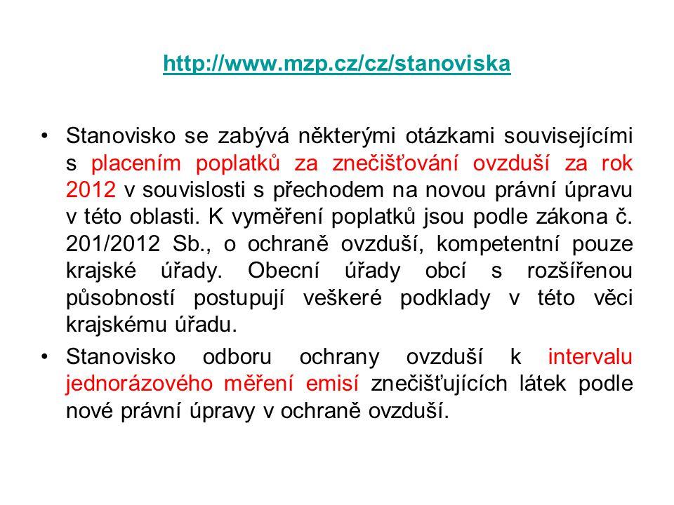 http://www.mzp.cz/cz/stanoviska
