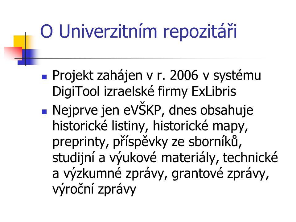 O Univerzitním repozitáři