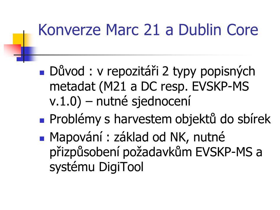 Konverze Marc 21 a Dublin Core