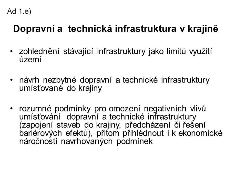 Dopravní a technická infrastruktura v krajině