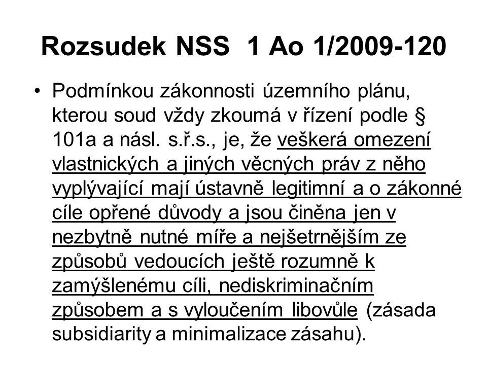 Rozsudek NSS 1 Ao 1/2009-120
