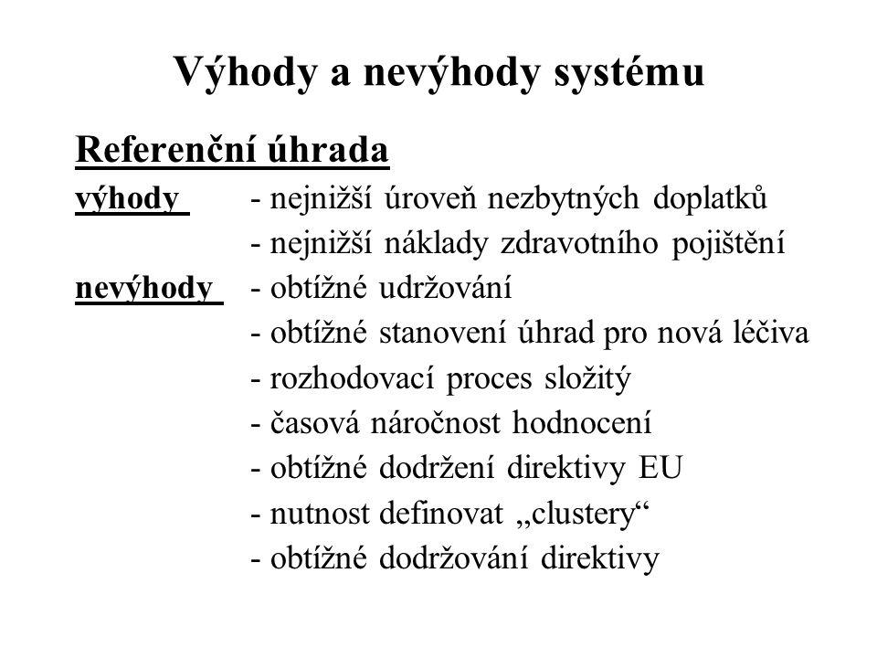 Výhody a nevýhody systému