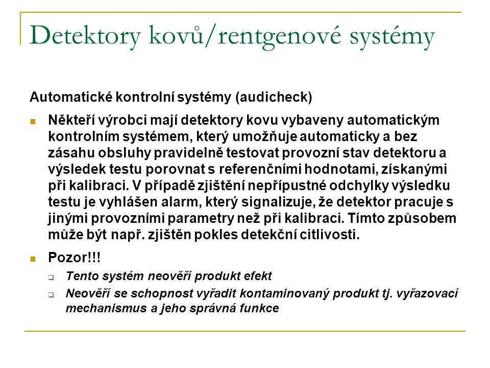 Detektory kovů/rentgenové systémy