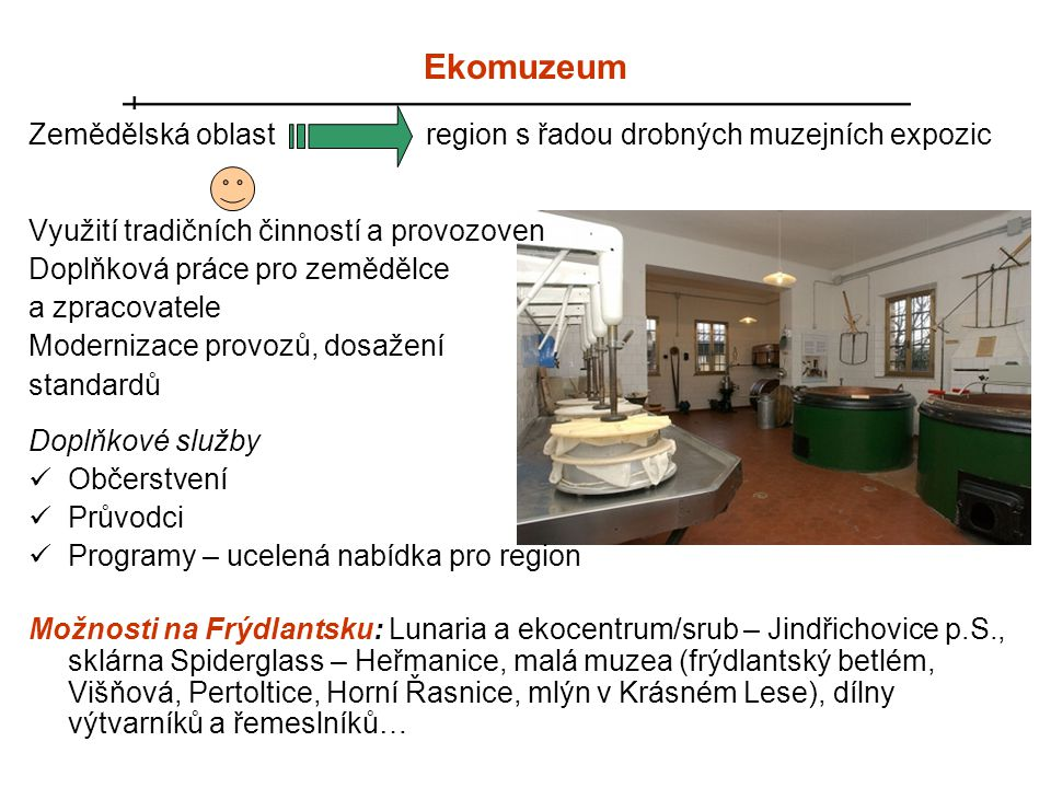 Ekomuzeum Zemědělská oblast region s řadou drobných muzejních expozic