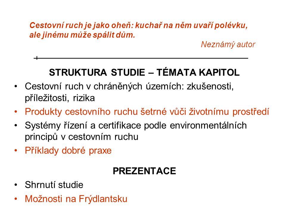 STRUKTURA STUDIE – TÉMATA KAPITOL