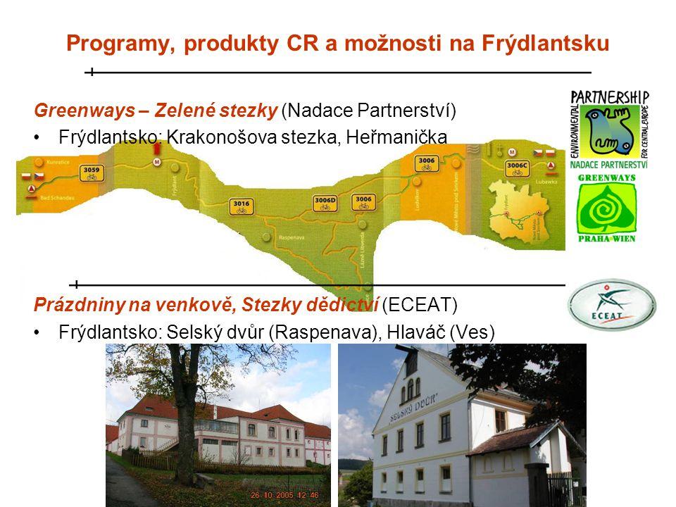 Programy, produkty CR a možnosti na Frýdlantsku