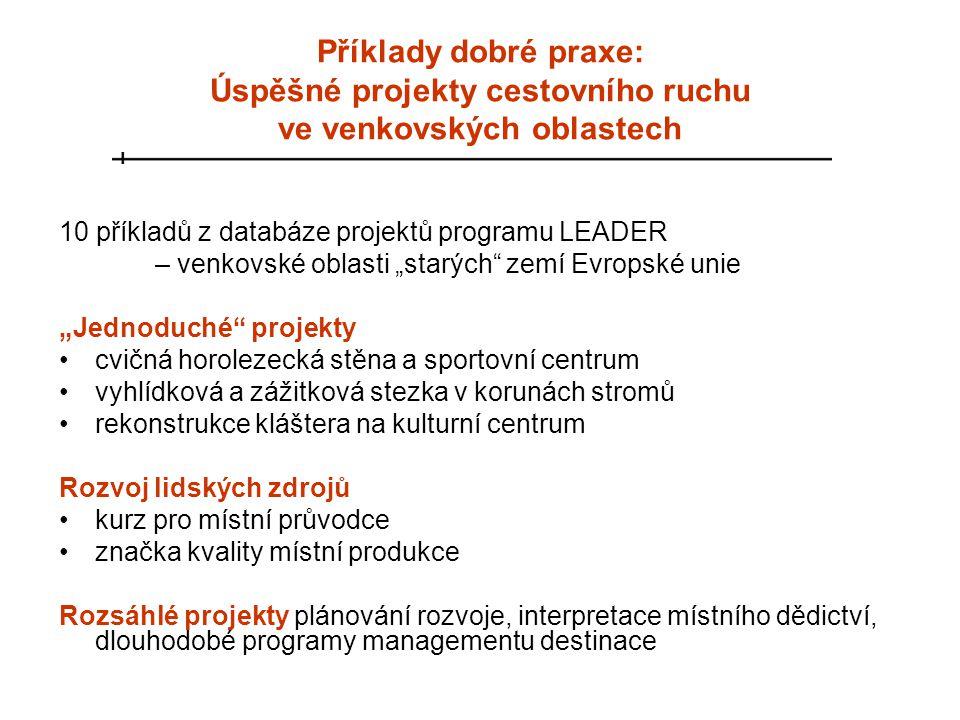 Příklady dobré praxe: Úspěšné projekty cestovního ruchu ve venkovských oblastech