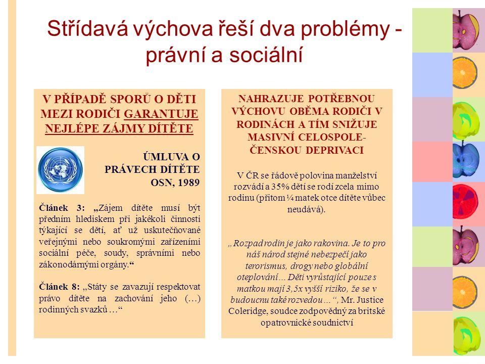 Střídavá výchova řeší dva problémy - právní a sociální