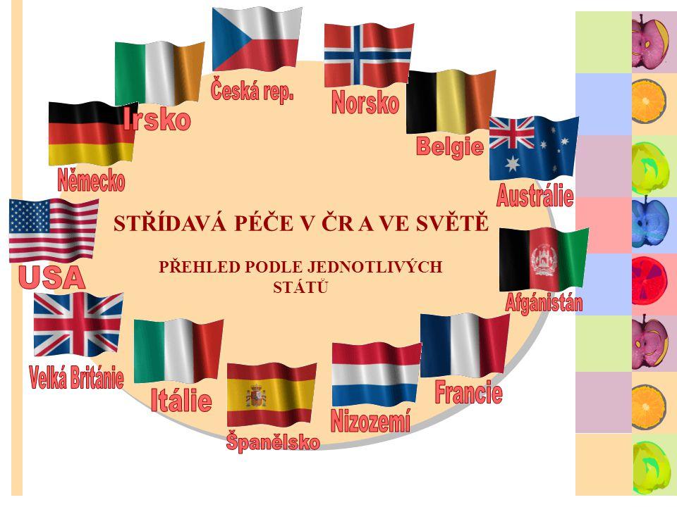 STŘÍDAVÁ PÉČE V ČR A VE SVĚTĚ PŘEHLED PODLE JEDNOTLIVÝCH STÁTŮ