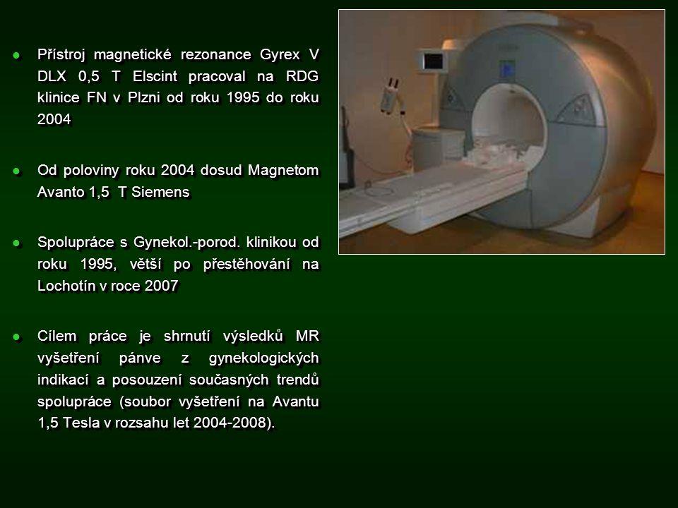 Přístroj magnetické rezonance Gyrex V DLX 0,5 T Elscint pracoval na RDG klinice FN v Plzni od roku 1995 do roku 2004